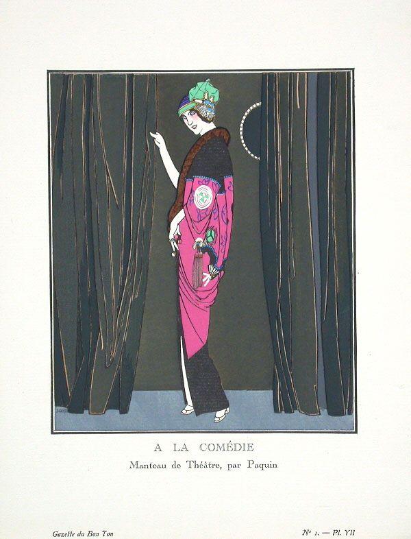 Jeanne Paquin - 1913 theatre coat