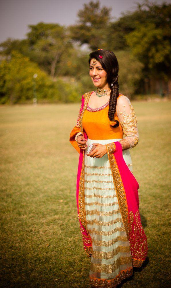 Jaipur weddings | Kavya & Guneet wedding story | Wed Me Good.....love the colors n embroidery on dupatta
