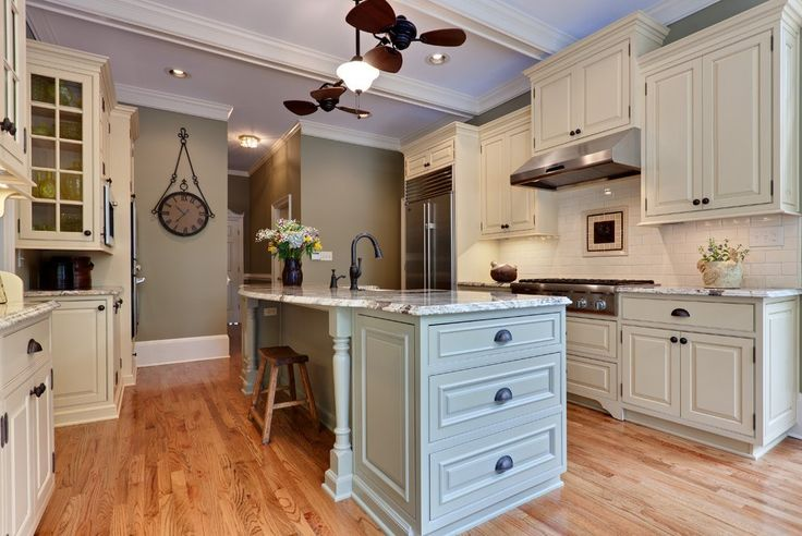 Dual Ceiling Fan with Recessed Lighting Gray Walls Dresser Light