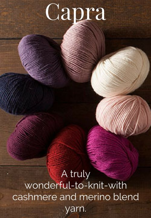 Knit Picks Capra is a glorious merino and cashmere blend yarn that is a complete…