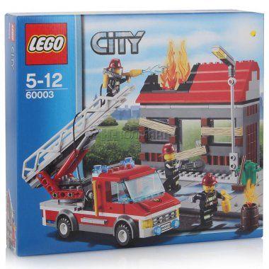 Конструктор LEGO City Тушение пожара, Лего Город, 5-12 лет (60003)