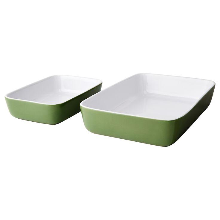 LYCKAD Oven/serving dish set of 2 - IKEA