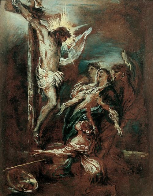 Giovanni Benedetto Castiglione (Grechetto) - La Crocifssione (The Crucifixion); Musei de Strada Nuova, Genoa, Italy; 1660