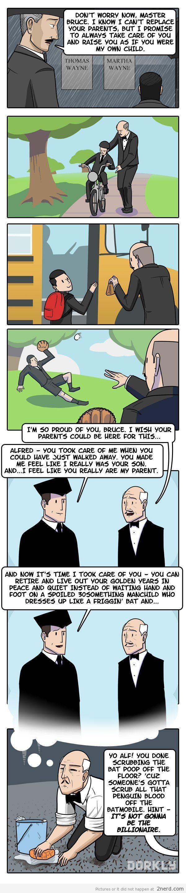 Batman and Alfred - http://2nerd.com/comics/batman-alfred/