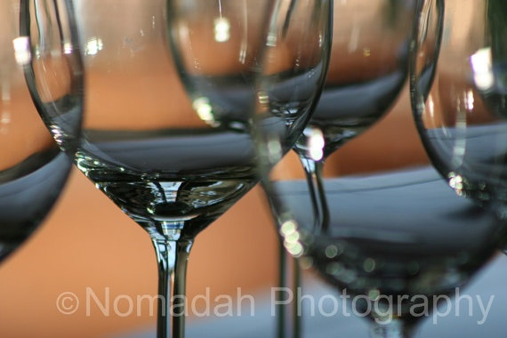 Wine glass abstract.