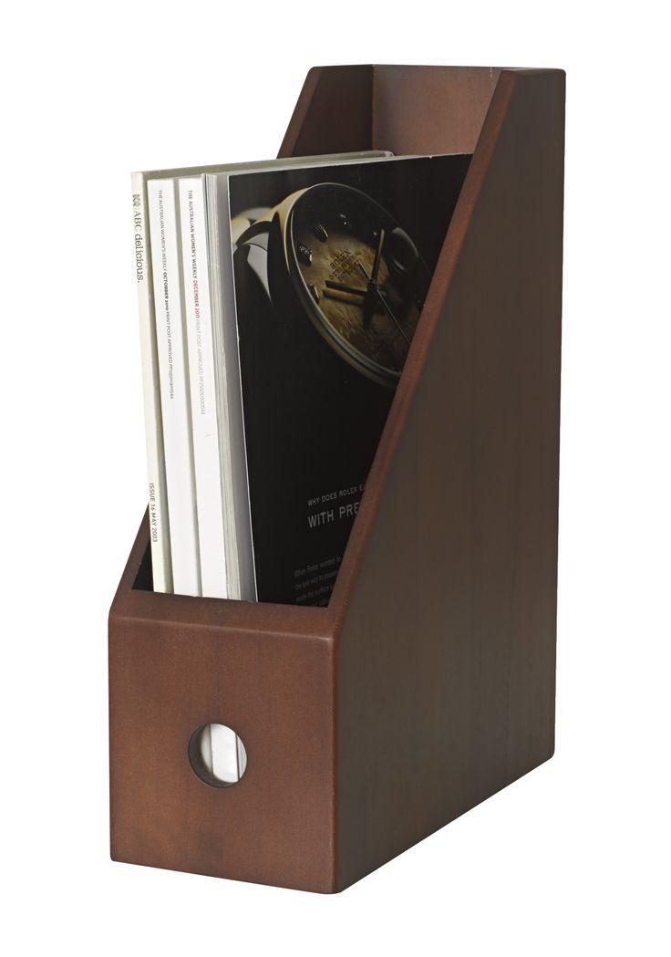 Magazine file mahogany