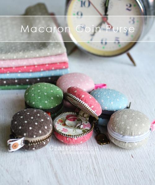Sewing Free pattern : coin macaron purse