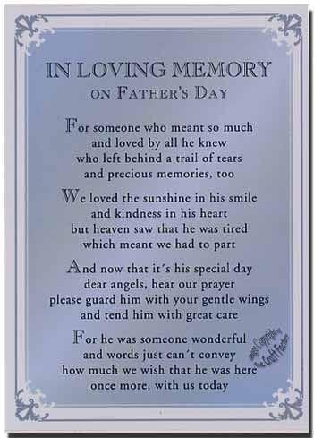 poem in memory of Father