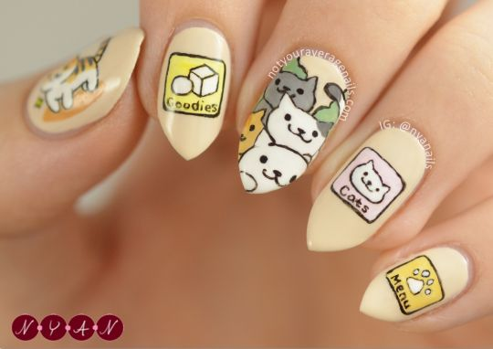 Neko Atsume Nails