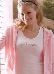 Bride Crystal Tee Shirt or Singlet