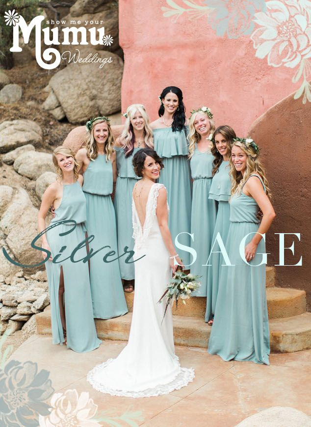 e0b839eef8a New Silver Sage Blue Bridesmaid Dresses