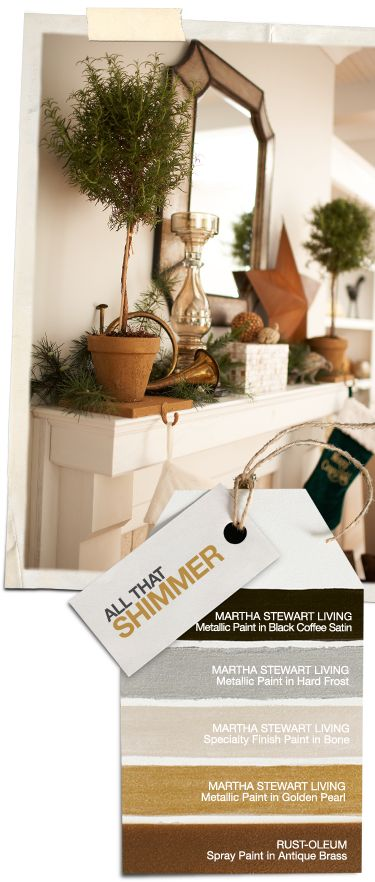 Home Depot: All That Shimmer, Martha Stewart Living And Rust Oleum, Gold