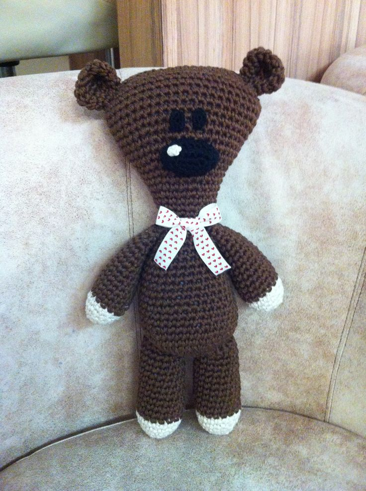 Mr Bean's Teddy bear amigurumi design by Milena Jovicic