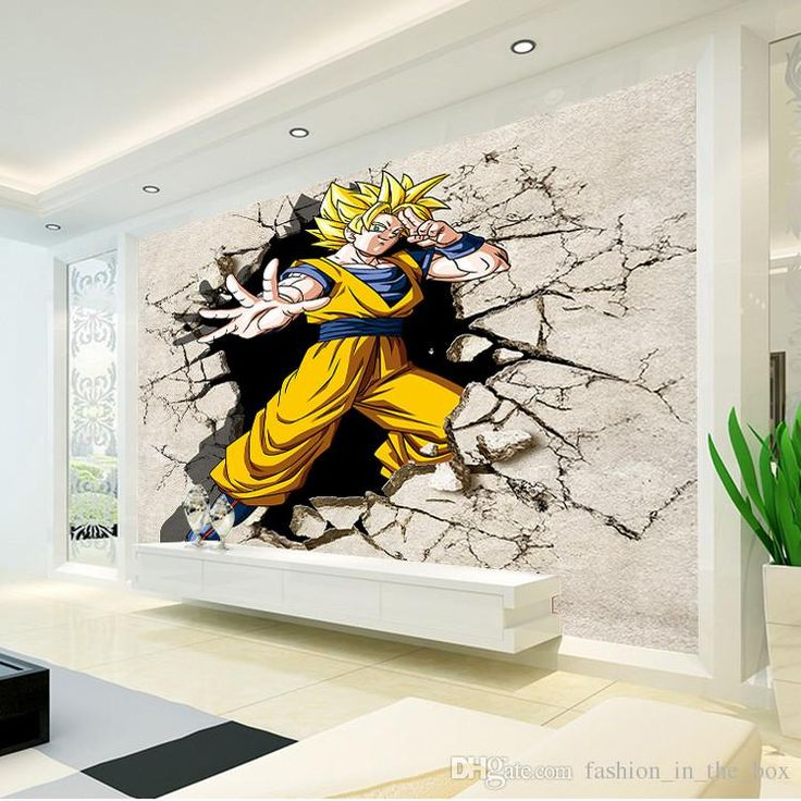 Dragon ball photo wallpaper 3d anime wall mural custom for Decoration murale dragon ball