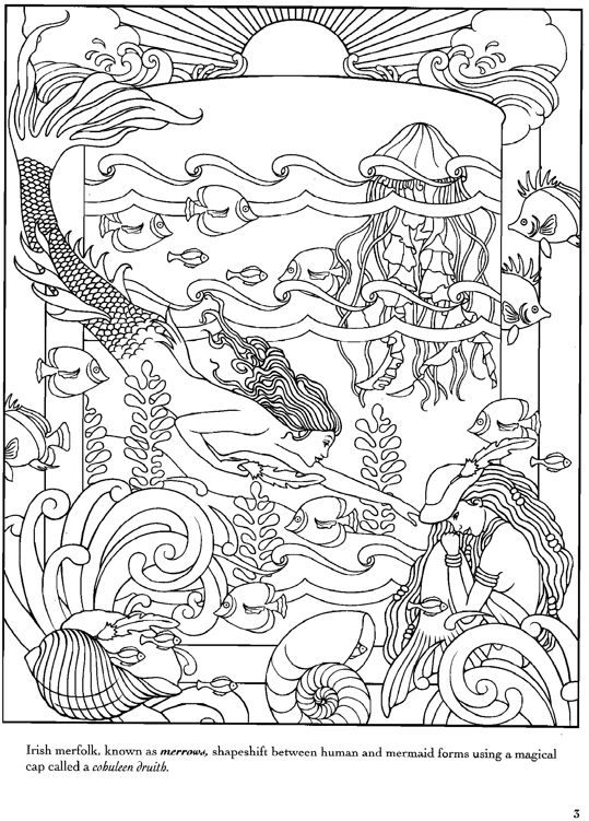 173 best images about Coloring pages to print Mermaids