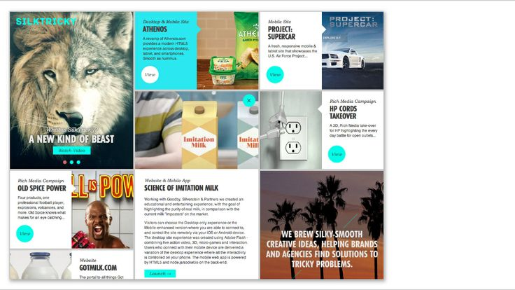 Use of cards in web design