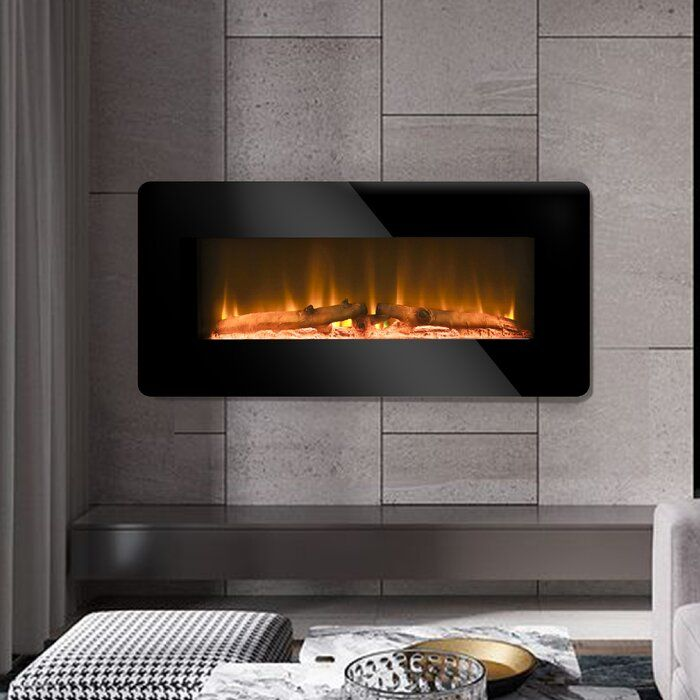 Saarah Wall Mounted Electric Fireplace In 2020 Wall Mount