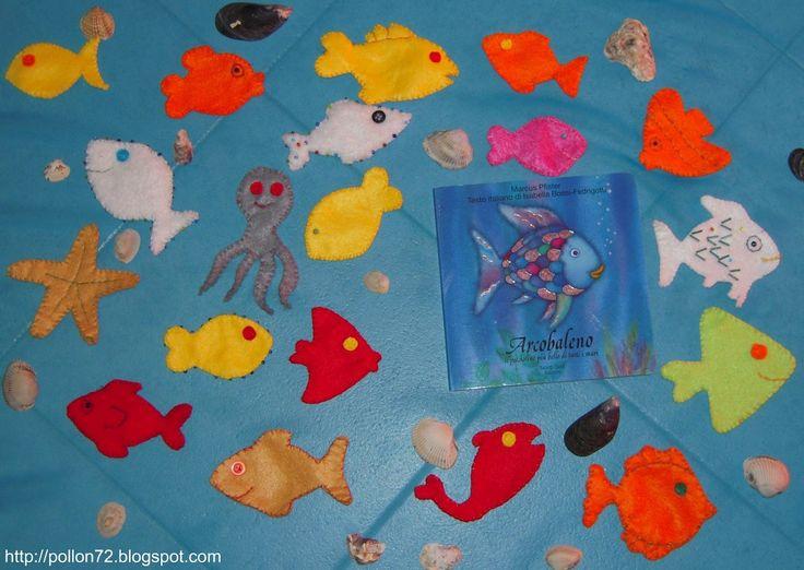"""""""Lontano lontano, nel profondo del mare, vive il pesciolino Arcobaleno. E' il pesce più bello del mare, e tutti ammirano le sue stupende sca..."""