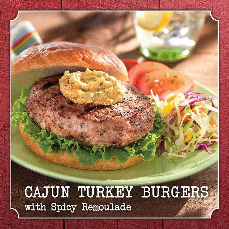 Cajun Turkey Burgers with Spicy Remoulade. A grilling recipe full of ...