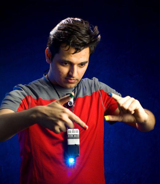 Pranav Mistry with SixthSense prototype (Photo credit: Sam Ogden)
