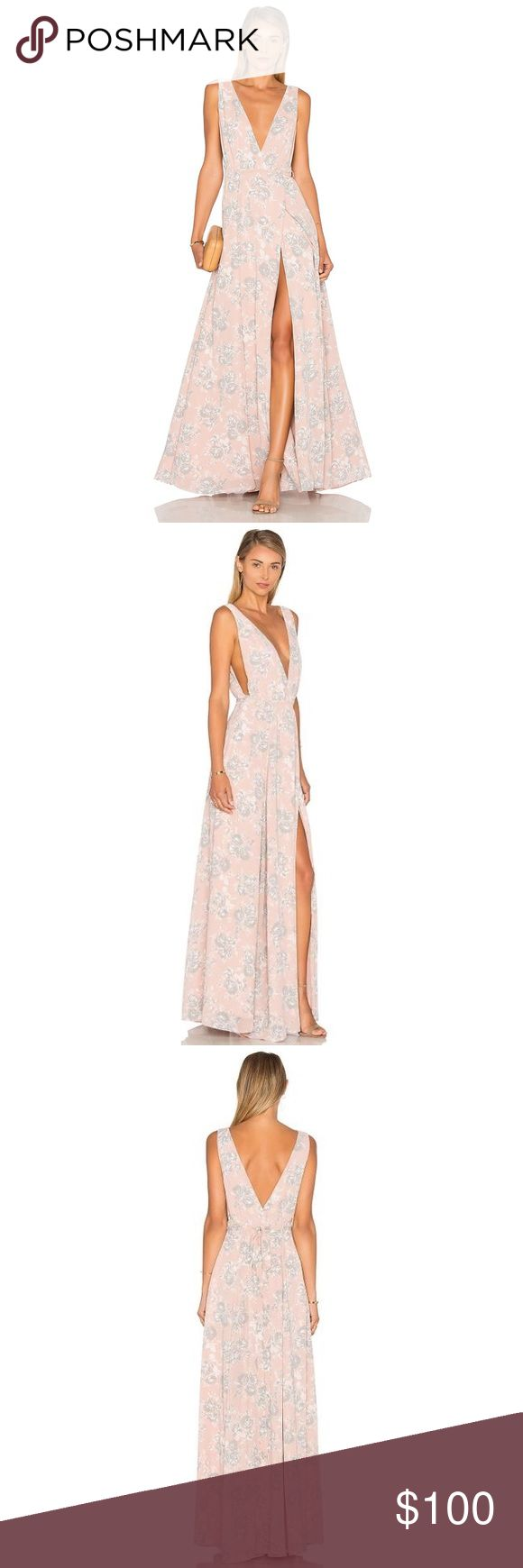 Lovers and Friends x Revolve Leah Gown NWT Gorgeous gown great for summer weddings! Lovers + Friends Dresses Maxi