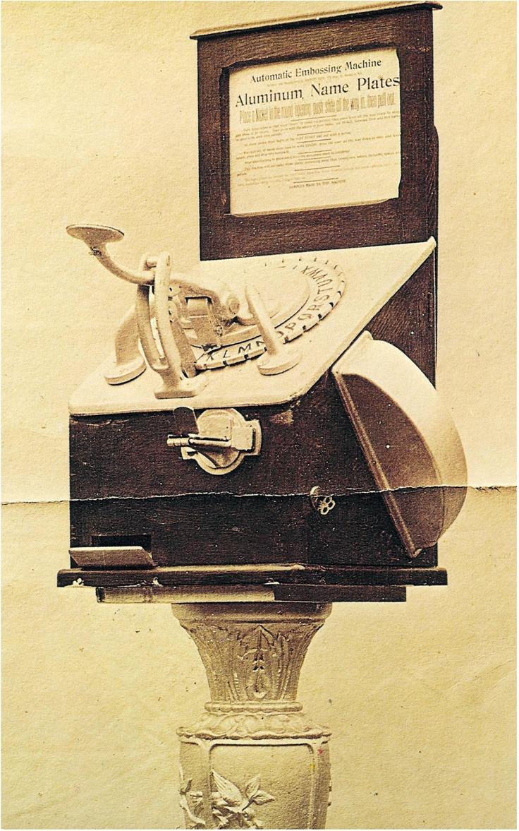 Antique nameplate machine