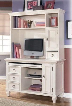 White Bedroom Desk Furniture 45830 Amazoncom White Bedroom Desk Hutch Signature Design By Ashley Furniture