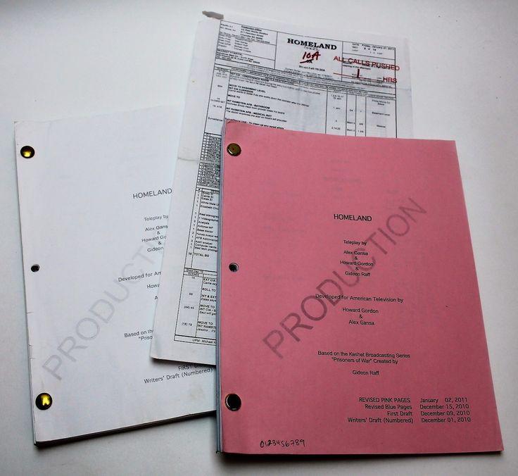 Homeland * 2011 Tv Show Scripts Pilot Episode * Has First Draft & Revised Draft