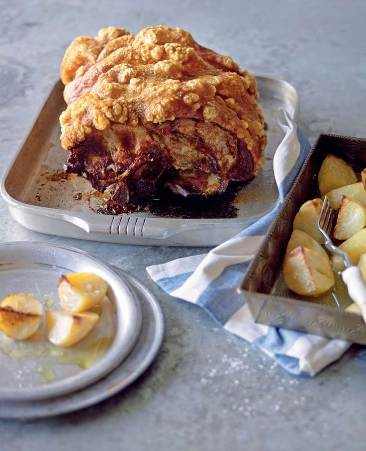 Roast pork with lemon potatoes by Lyndey Milan from Lyndey and Blair's Taste of Greece | Cooked