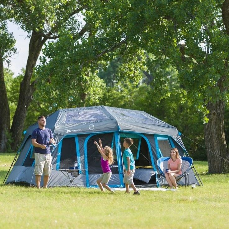 10 Person Instant Cabin Tent blocks sunlight No assembly required Family Camping