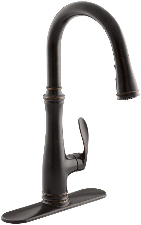 kohler k 560 2bz bellera pull down kitchen faucet oil rubbed bronze - Kohler Armaturen L Eingerieben Bronze