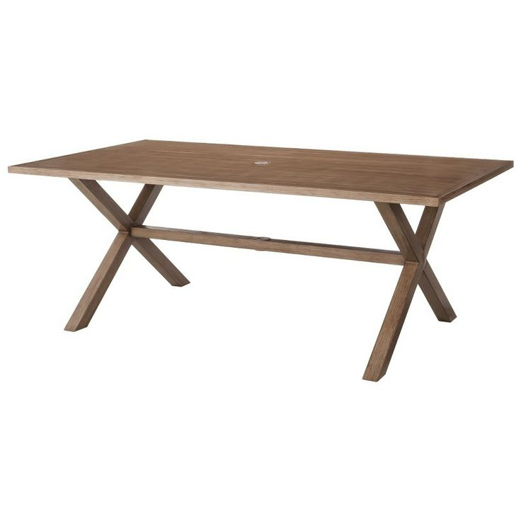 threshold holden metal rectangular patio dining table