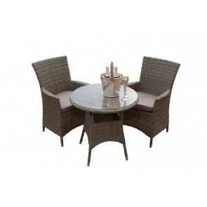 milan light bistro set available from maze rattan garden furniture dubai