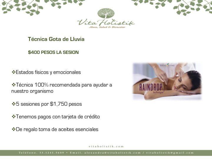 ⚛️Terapia de gota de lluvia 💯Súper precio de $400 pesos ✅50 minutos 🔝5 sesiones en 1,750 pesos ✴️Una excelente alternativa para combatir enfermedades físicas y trastornos emocionales