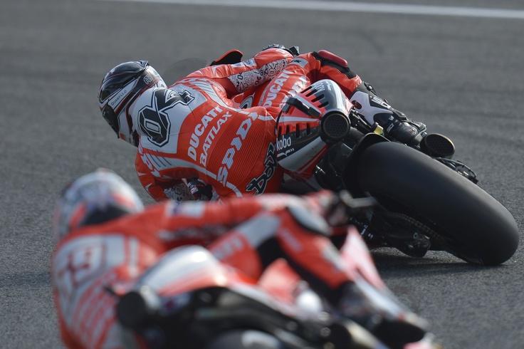 Dovi and Hayden at 2013 MotoGP Jerez