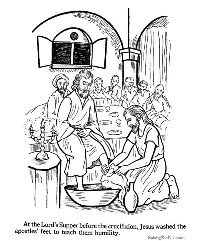 bible printables easter coloring pages 6 jesus washes the az coloring