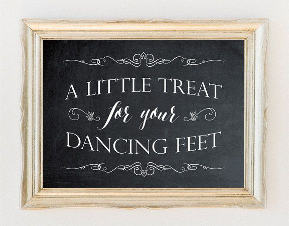 printable wedding sign, chalkboard wedding sign, chalkboard dancing sign, dancing feet sign, chalkboard wedding signage, 8x10 by OurFriendsEclectic on Etsy
