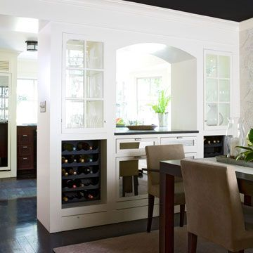 Wine Room Divider - for when we knock out a counter and cabinet area in our kitchen.