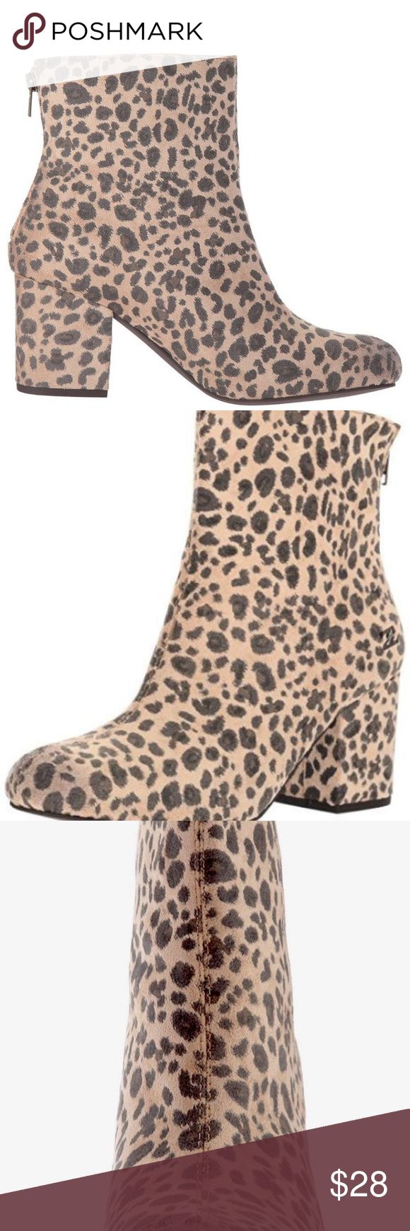 """Billabong Women's Luna Ankle Bootie Size 10 Billabong Women's Luna Ankle Bootie Size 10 Vegan Suede Animal Leopard Print  NEW IN BOX  Textile  Imported  Synthetic sole  Shaft measures approximately 6"""" from arch  Boot opening measures approximately 9.5"""" around  3"""" Block Heel Vegan suede  Retro boot All Over Print Color -Ani Beige Black Smoke & Pet Free Billabong Shoes Ankle Boots & Booties"""