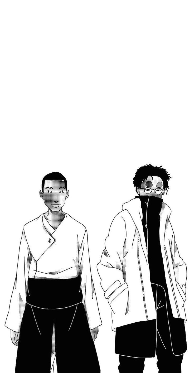 "jamesyouth: "" dotnova: "" Naruto Hip-Hop Crossover [Group1] Cole Uzumaki x Kendrick Uchiha x Ross Akimichi x Bino of the Sand x Earl Nara x ASAP Rock Lee x Dre Sarutobi x Parappa Hatake x Hopsin Hyuuga..."