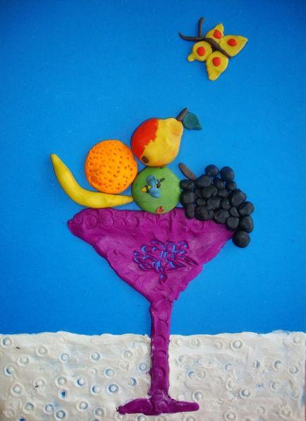 «Осенние натюрморты» в технике пластилинография - Для воспитателей детских садов - Мааам.ру