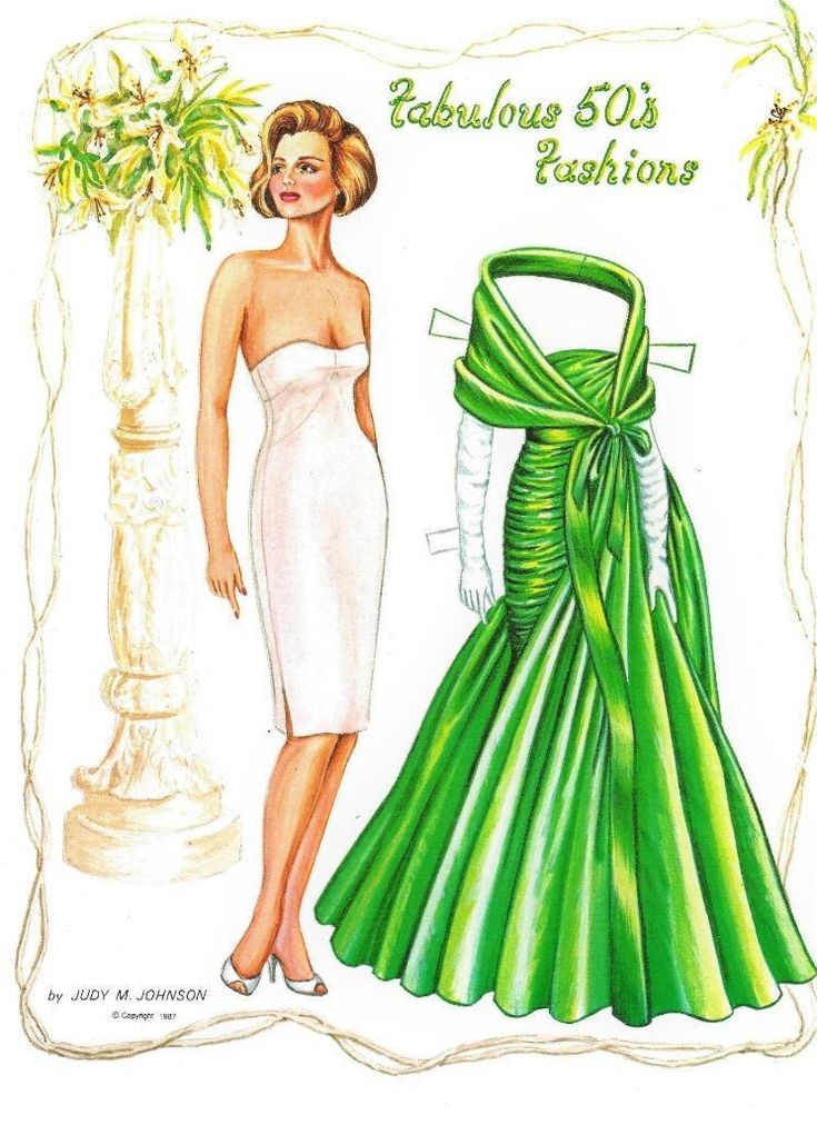 ORIGINAL UNCUT THE FABULOUS 50s PAPER DOLLS BY JUDY JOHNSON~LIMITED EDITION~HTF - $21.99 | PicClick
