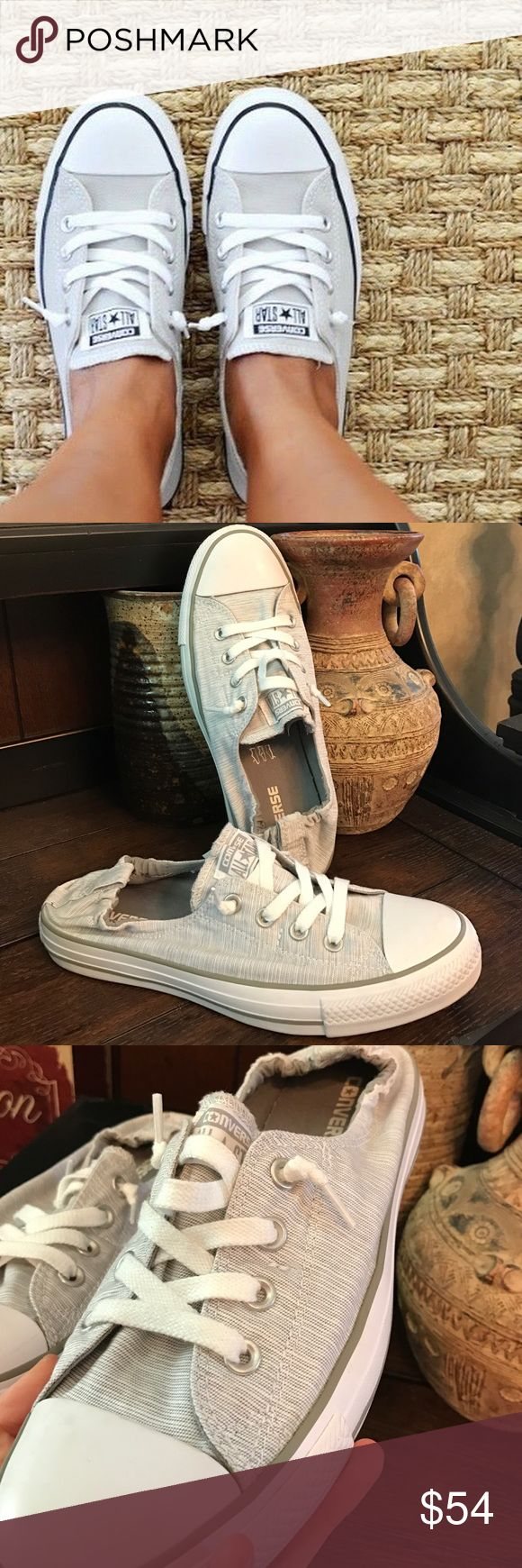 CONVERSE Shoreline Dolphin White Slip on Size 10 With box. Ordered online  worn once. Need different size. Converse Shoes Sneakers
