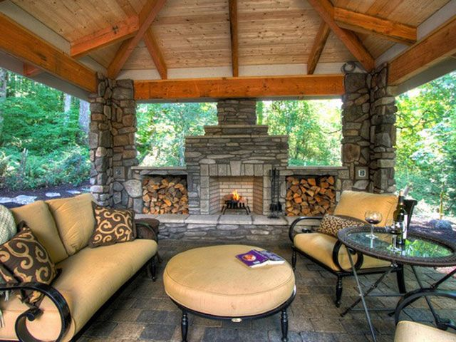 1000 ideas about outdoor fireplaces on pinterest for Ideal outdoor living
