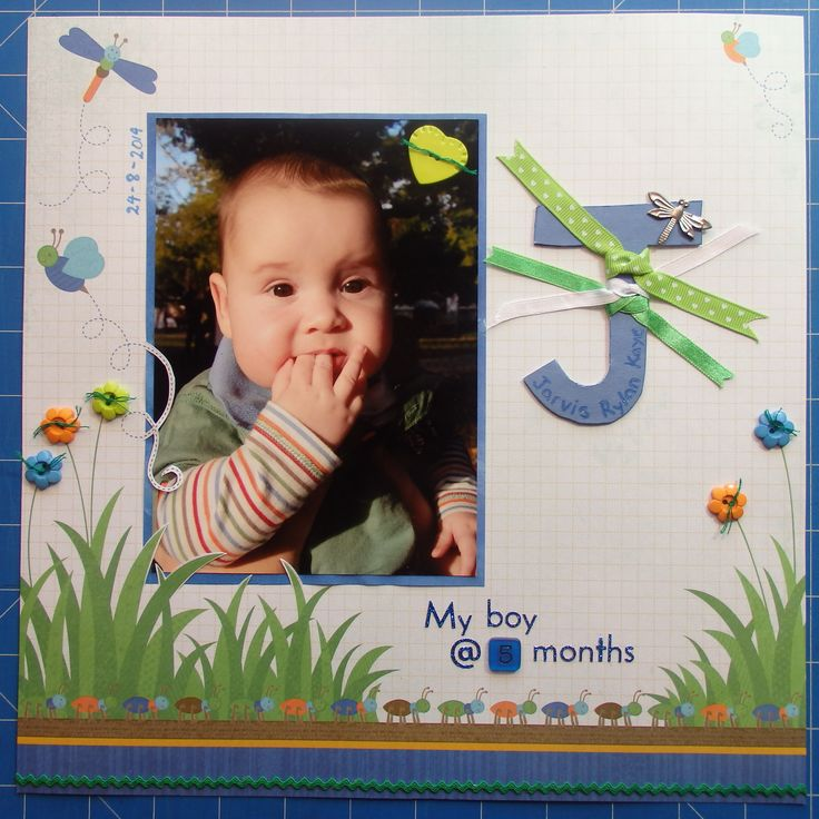 Scrapbook page by Laura: J