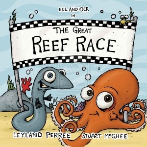 The Great Reef Race by Leyland Perree. Son and Mom give it 5 stars! Ages 3+