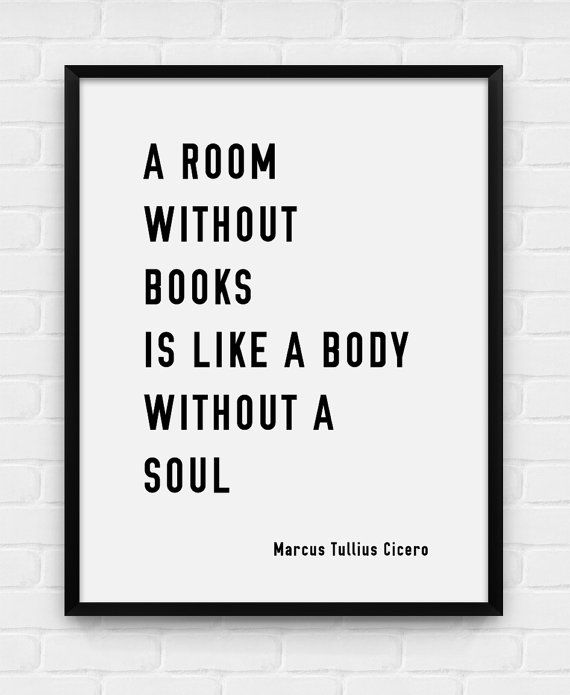 Ein Raum ohne Bücher druckbare Poster von BlackAndWhitePosters