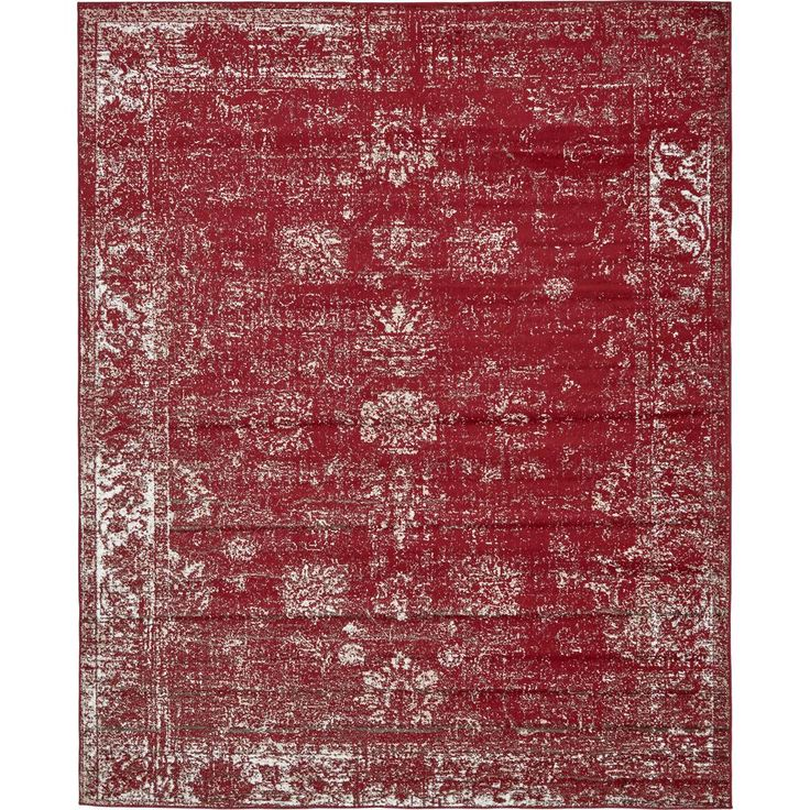 Sofia Burgundy (Red) 8 ft. x 10 ft. Area Rug