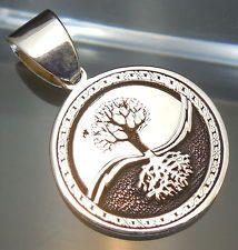 Doppelseitig Anhänger - Celtic Tree Of Life - Keltisch Lebensbaum  925 Silber