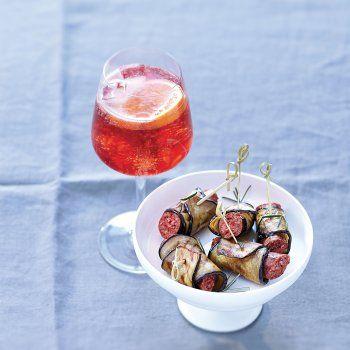 Pannequets d'aubergine aux merguez